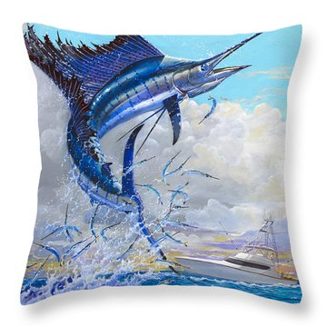 Free Jumper Off00152 Throw Pillow by Carey Chen