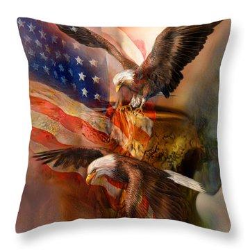 Freedom Ridge Throw Pillow by Carol Cavalaris