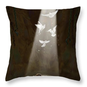Freedom Throw Pillow by Tamer and Cindy Elsharouni