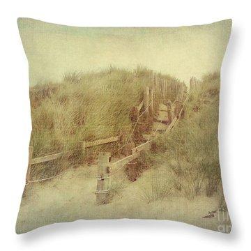 French Coast Beach #2 Throw Pillow by Svetlana Novikova