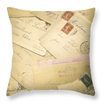 French Correspondence From Ww1 #2 Throw Pillow by Jan Bickerton