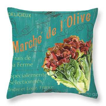 French Market Sign 3 Throw Pillow by Debbie DeWitt