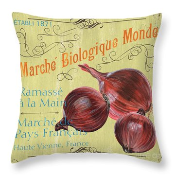 French Market Sign 4 Throw Pillow by Debbie DeWitt