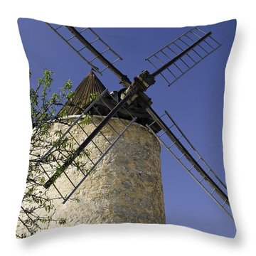 French Moulin Throw Pillow by Bob Phillips