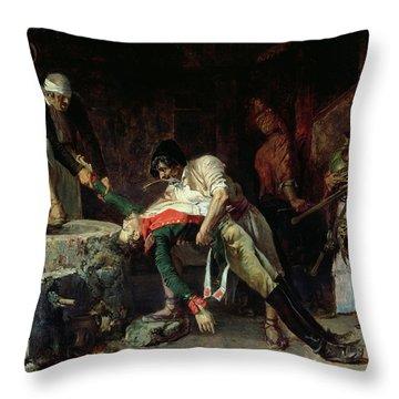 French Occupation Throw Pillow by Eduardo Zamacios y Zabala