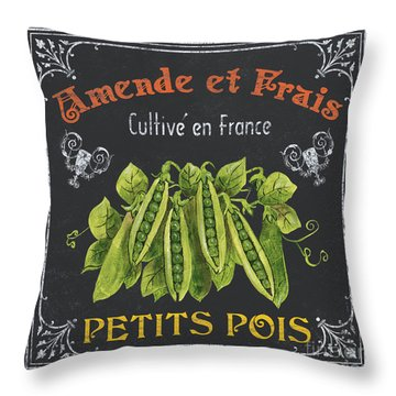 French Vegetables 2 Throw Pillow by Debbie DeWitt