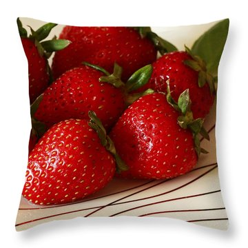 Fresh Berries Throw Pillow by Inspired Nature Photography Fine Art Photography
