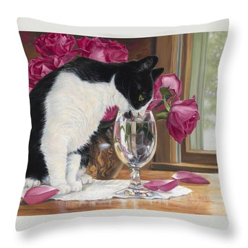 Fresh Water Throw Pillow by Lucie Bilodeau
