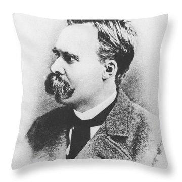 Friedrich Wilhelm Nietzsche In 1883 Throw Pillow by German Photographer
