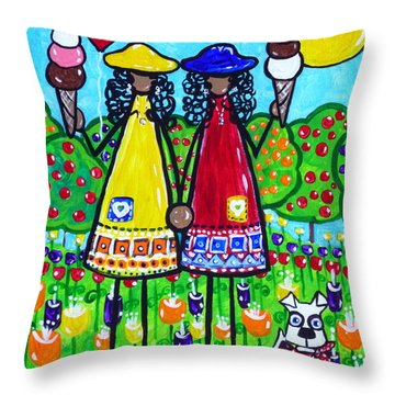 Friends Throw Pillow by Jackie Carpenter