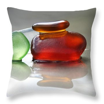Friendship Throw Pillow by Barbara McMahon