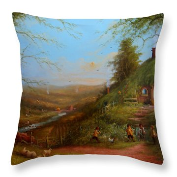 Frodo's Inheritance Bag End Throw Pillow by Joe  Gilronan