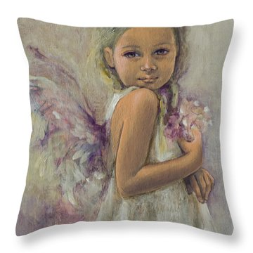 From Heaven... Throw Pillow by Dorina  Costras