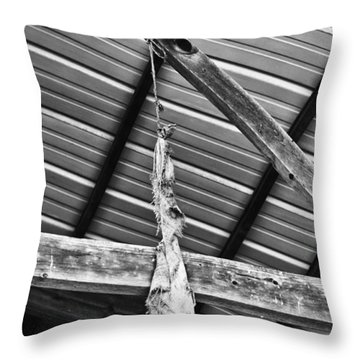 From The Rafters Throw Pillow by Christi Kraft