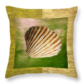 From The Sea Throw Pillow by Lourry Legarde