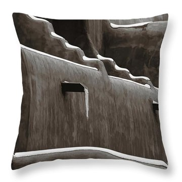 Frosting On The Clay Throw Pillow by Jon Burch Photography