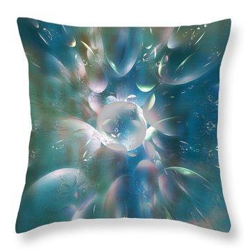 Frostwork Throw Pillow by Klara Acel
