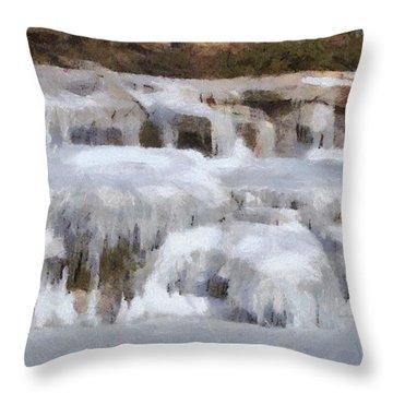 Frozen Falls Throw Pillow by Jeff Kolker