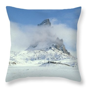 Frozen Peak 1001 Throw Pillow by Brent L Ander