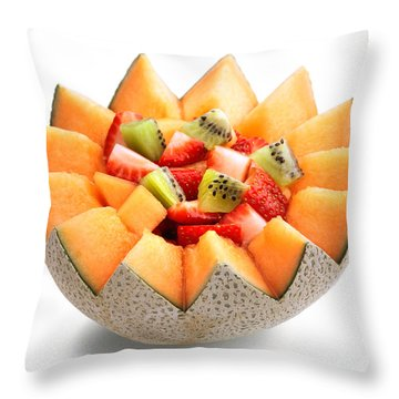 Fruit Salad Throw Pillow by Johan Swanepoel