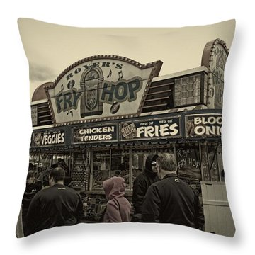 Fry Hop Throw Pillow by Tom Gari Gallery-Three-Photography