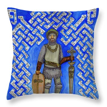 Full Armor Of Yhwh Man Throw Pillow by Hidden  Mountain
