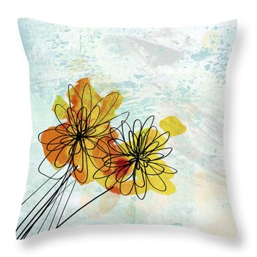 Fun Flowers  Throw Pillow by Ann Powell