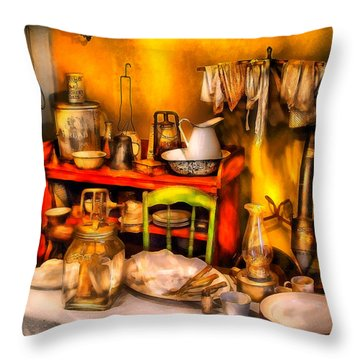 Furniture - Table - Our First Apartment Throw Pillow by Mike Savad