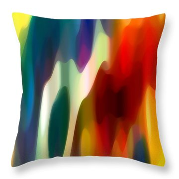 Fury 1 Throw Pillow by Amy Vangsgard