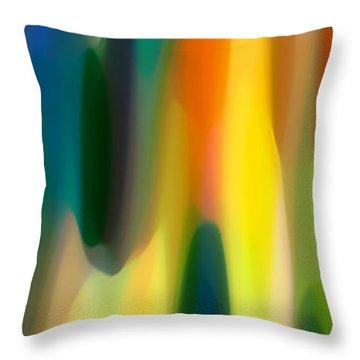 Fury Panoramic Vertical 1 Throw Pillow by Amy Vangsgard