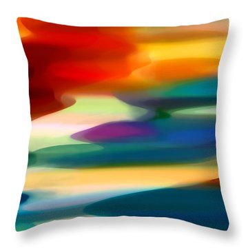 Fury Seascape Throw Pillow by Amy Vangsgard