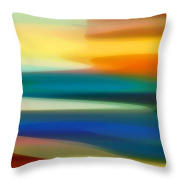 Fury Seascape II Throw Pillow by Amy Vangsgard
