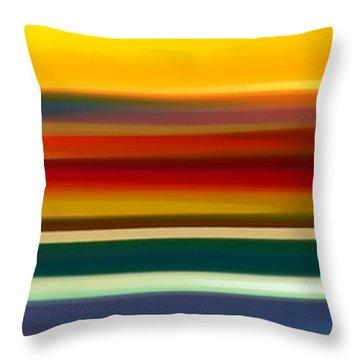 Fury Seascape Panoramic 2 Throw Pillow by Amy Vangsgard