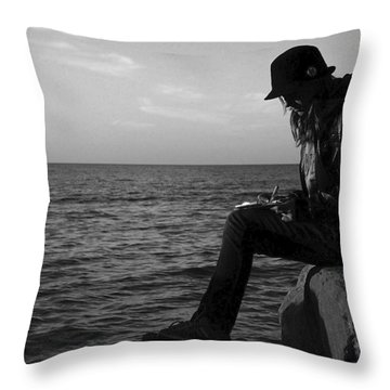 Future Author Throw Pillow by Frozen in Time Fine Art Photography