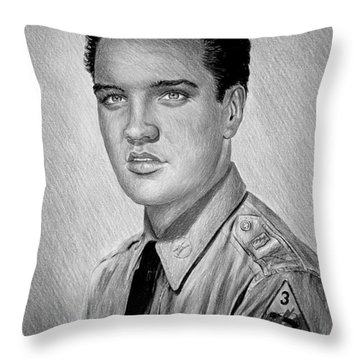 G I Elvis  Throw Pillow by Andrew Read