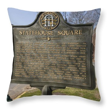 Ga-005-19 Statehouse Square Throw Pillow by Jason O Watson