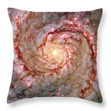 Galactic Whirlpool Throw Pillow by Benjamin Yeager