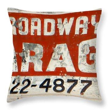 Garage Grunge Throw Pillow by Dorothy Menera