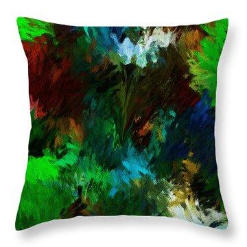 Garden In My Dream Throw Pillow by David Lane