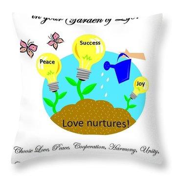 Garden Of Life Throw Pillow by Bobbee Rickard