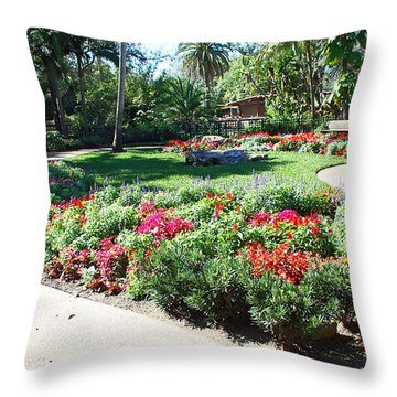 Garden Park Throw Pillow by Aimee L Maher Photography and Art Visit ALMGallerydotcom
