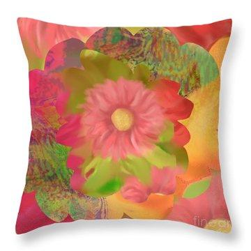 Garden Party Throw Pillow by Christine Fournier