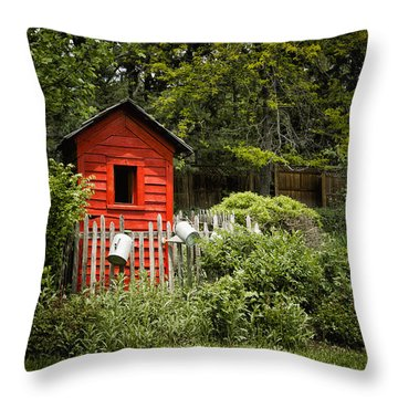 Garden Still Life Throw Pillow by Margie Hurwich