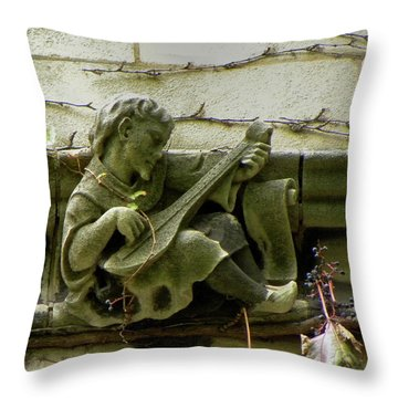 Gargoyle With Grape Vines University Of Chicago October 2009 Throw Pillow by Joseph Duba