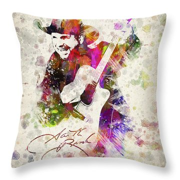 Garth Brooks Throw Pillow by Aged Pixel