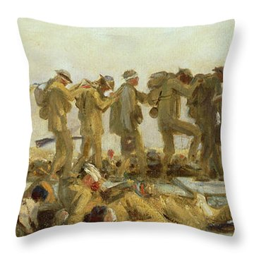 Gassed    An Oil Study Throw Pillow by John Singer Sargent