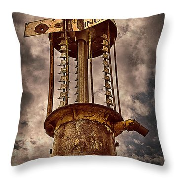 Gassing Up In Jerome Throw Pillow by Priscilla Burgers