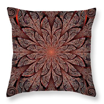 Gates Of Fire Throw Pillow by Anastasiya Malakhova