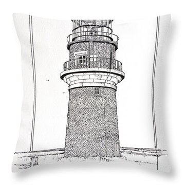 Gay Head Light Throw Pillow by Ira Shander