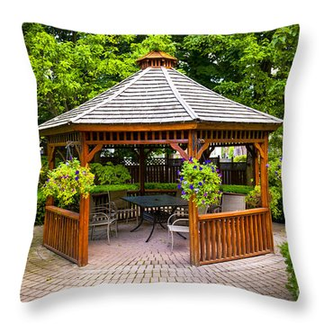 Gazebo  Throw Pillow by Elena Elisseeva